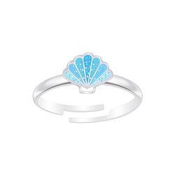 Wholesale Sterling Silver Shell Adjustable Ring - JD6990