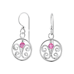 Wholesale Sterling Silver Butterfly Earrings with Crystals Bead - JD7117