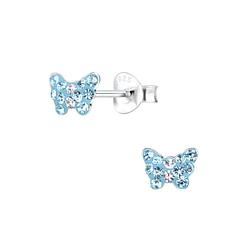 Wholesale Sterling Silver Butterfly Ear Studs - JD7069