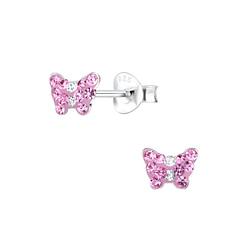 Wholesale Sterling Silver Butterfly Ear Studs - JD7511
