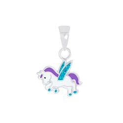 Wholesale Sterling Silver Winged Unicorn Pendant - JD7021