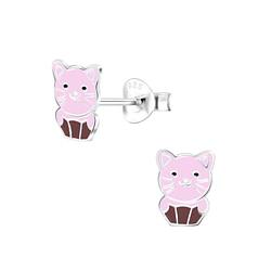 Wholesale Sterling Silver Cat Ear Studs - JD6816