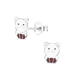 Wholesale Sterling Silver Cat Ear Studs - JD6804