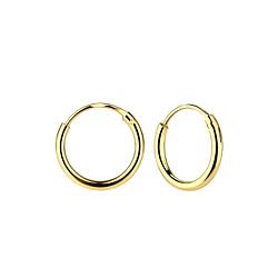 Wholesale 12mm Sterling Silver Ear Hoops - JD7260