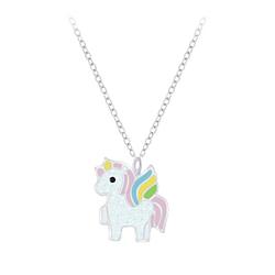 Wholesale Sterling Silver Unicorn Necklace - JD7388