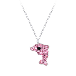 Wholesale Sterling Silver Dolphin Necklace - JD7390
