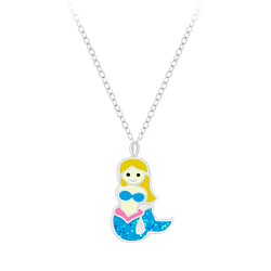 Wholesale Sterling Silver Mermaid Necklace - JD7360