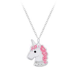 Wholesale Sterling Silver Unicorn Necklace - JD7394