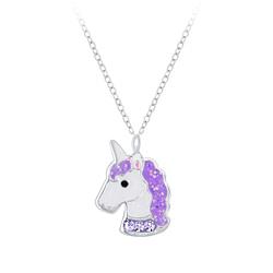 Wholesale Sterling Silver Unicorn Necklace - JD7401