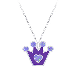 Wholesale Sterling Silver Crown Necklace - JD7384
