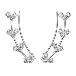 Wholesale Sterling Silver Cubic Zirconia Ear Climbers - JD7440