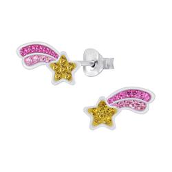 Wholesale Sterling Silver Shooting Star Ear Studs - JD7513