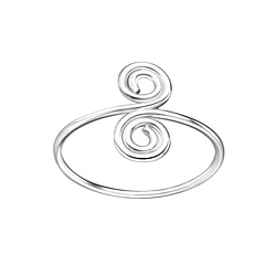 Wholesale Sterling Silver Spiral Ring - JD7754