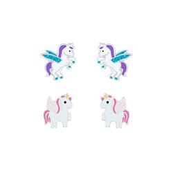 Wholesale Sterling Silver Unicorn Ear Studs Set - JD7622