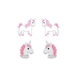 Wholesale Sterling Silver Unicorn Ear Studs Set - JD7644