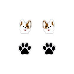 Wholesale Sterling Silver Dog Lovers Ear Studs Set - JD7623