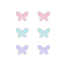 Wholesale Sterling Silver Butterfly Ear Studs Set - JD7667