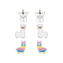 Wholesale Sterling Silver Llama Ear Studs Set - JD7676