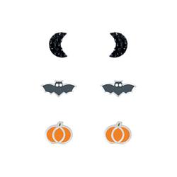 Wholesale Sterling Silver Halloween Ear Studs Set - JD7674