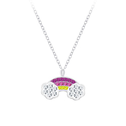 Wholesale Sterling Silver Rainbow Necklace - JD7763