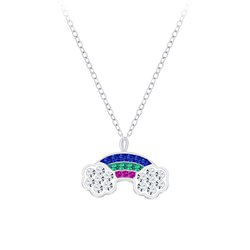 Wholesale Sterling Silver Rainbow Necklace - JD7762