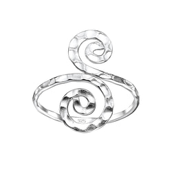 Wholesale Sterling Silver Spiral Ring - JD7584