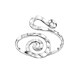 Wholesale Sterling Silver Spiral Ring - JD7596