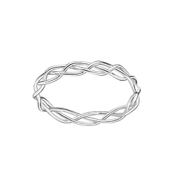 Wholesale Sterling Silver Braided Ring - JD7610