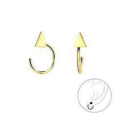 Wholesale Sterling Silver Triangle Ear Huggers - JD7855
