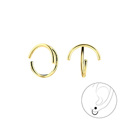 Wholesale Sterling Silver Curved Ear Huggers - JD7876