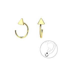 Wholesale Sterling Silver Triangle Ear Huggers - JD7866