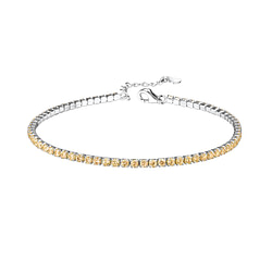 Wholesale Sterling Silver Tennis Bracelet with 2mm Cubic Zirconia - JD8280