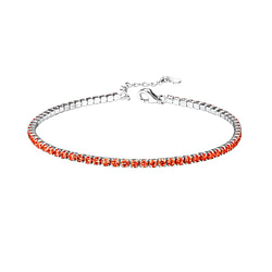 Wholesale Sterling Silver Tennis Bracelet with 2mm Cubic Zirconia - JD8281