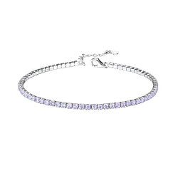 Wholesale Sterling Silver Tennis Bracelet with 2mm Cubic Zirconia - JD8282
