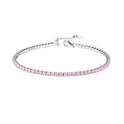 Wholesale Sterling Silver Tennis Bracelet with 2mm Cubic Zirconia - JD8283