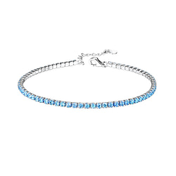 Wholesale Sterling Silver Tennis Bracelet with 2mm Cubic Zirconia - JD8279