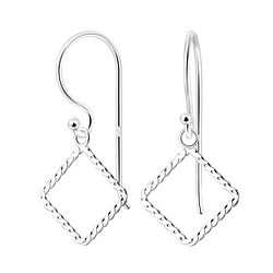 Wholesale Sterling Silver Square Earrings - JD8167