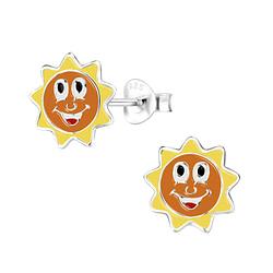 Wholesale Sterling Silver Sun Ear Studs - JD8047