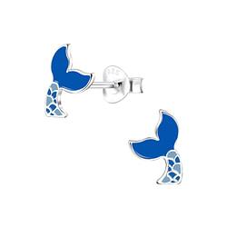 Wholesale Sterling Silver Mermaid Tail Ear Studs - JD8053