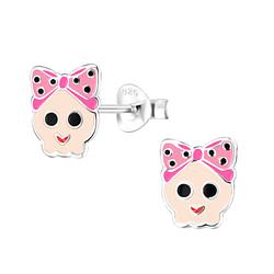 Wholesale Sterling Silver Skull Ear Studs - JD8251