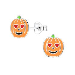 Wholesale Sterling Silver Pumpkin Ear Studs - JD8253