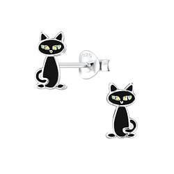 Wholesale Sterling Silver Cat Ear Studs - JD8256