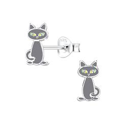 Wholesale Sterling Silver Cat Ear Studs - JD8257