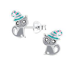 Wholesale Sterling Silver Cat Ear Studs - JD8260