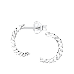 Wholesale Sterling Silver Twisted Ear Studs - JD8172