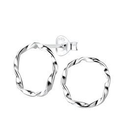 Wholesale Sterling Silver Twisted Ear Studs - JD8181