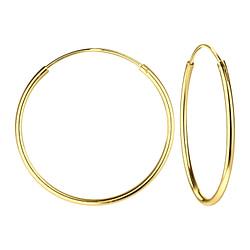 Wholesale 25mm Sterling Silver Ear Hoops - JD1320