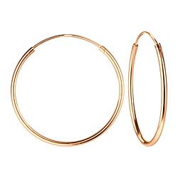 Wholesale 25mm Sterling Silver Ear Hoops - JD4864