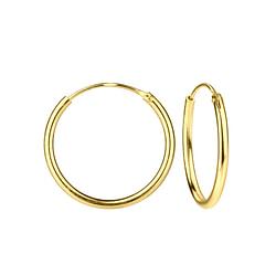 Wholesale 20mm Sterling Silver Ear Hoops - JD7474