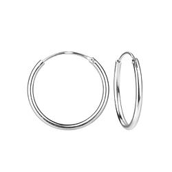 Wholesale 20mm Sterling Silver Ear Hoops - JD4474